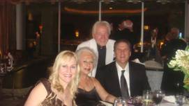 Mike and Beverly Mykisen (center) with Son and Daughter-in-law