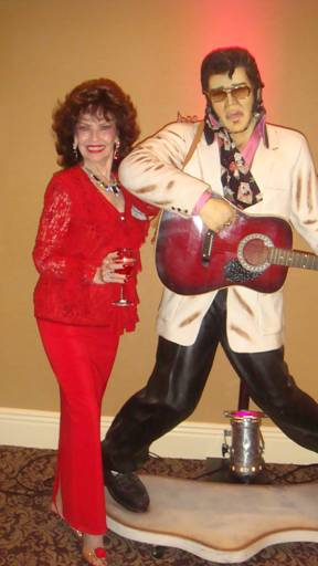 An Elvis Statue graced the cocktail party