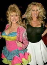 Charo and Pamela Anderson